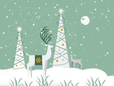 Happy Holidays flat greetings holiday christmas fashionwows illustrator vector