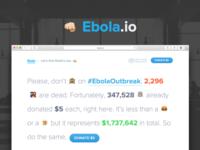 Ebola.io - Landing page