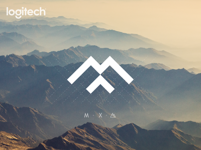 Logitech MX design concept nature x m keyboard mouse branding design monochrome minimal logo mountain logo mountain consept