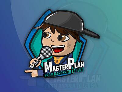 Mobile game logo logo design green blue illustration art kareoke sing rap asset game design game art gamer games logo