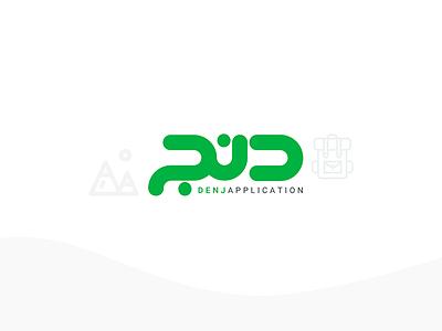 Denj Logo surfing couch sketch photoshop icon logo design android