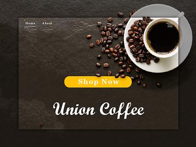 Union Coffee landing page dayliui union minimal web desgin web shop illustator coffee landing page