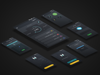 Time Hero Application dark app alarm goal design ui application ui time timehero saat sheni application dark