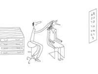Cartoon, gag, freehand illustration freelance