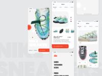 NIKE SNEAKRS clean ui white layout product service uiux ui kit nike shop fintech apps app apple application ui identity clean minimal ui app design