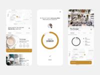 Coffee app flat order coffee brand app design mobile app mobile ui ui clean design character minimal identity