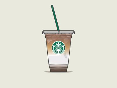 Starbucks Coffee   Iced Caramel Macchiato adobe illustrator graphic design design illustration vector branding starbucks frappuccino iced coffee cup to go