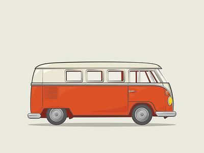 Classic Cars | 1960 Volkswagen Camper Van movie adobe photoshop branding volkswagon surf beach van campervan camper hippy volkswagen adobe illustrator graphic design design illustration vector car classic