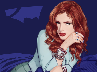 Bella Thorne ginger redhead actress woman sexy celebrity vector illustration digital painting vector art digital art illustration