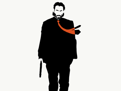 John Wick once killed a man with a fucking pencil. keanu reeves john wick vector illustration digital painting vector art digital art illustration