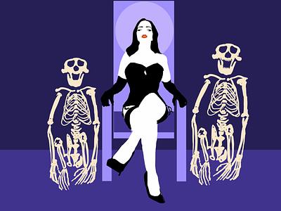 That's my fetish goth girl skeleton bondage sexy corset detail