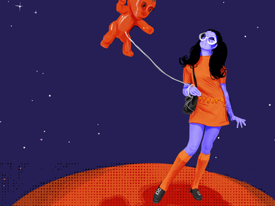Just a Martian girl and her balloon