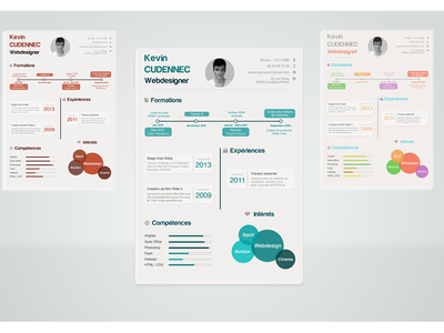 Infographic resume .PSD resume cv information skill graphic infographic student interest design .psd psd template