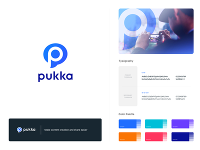 Pukka Brand identity typography branding and identity paris kevincdnc monogram brand identity colors totebag mockup logodesign logotype logo guidelines branding branding design brand