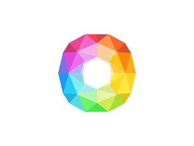 Polygone iOS 7 Color Wheel colors color wheel ios template design logo