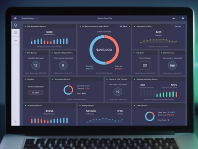 Sush.io new Dashboard