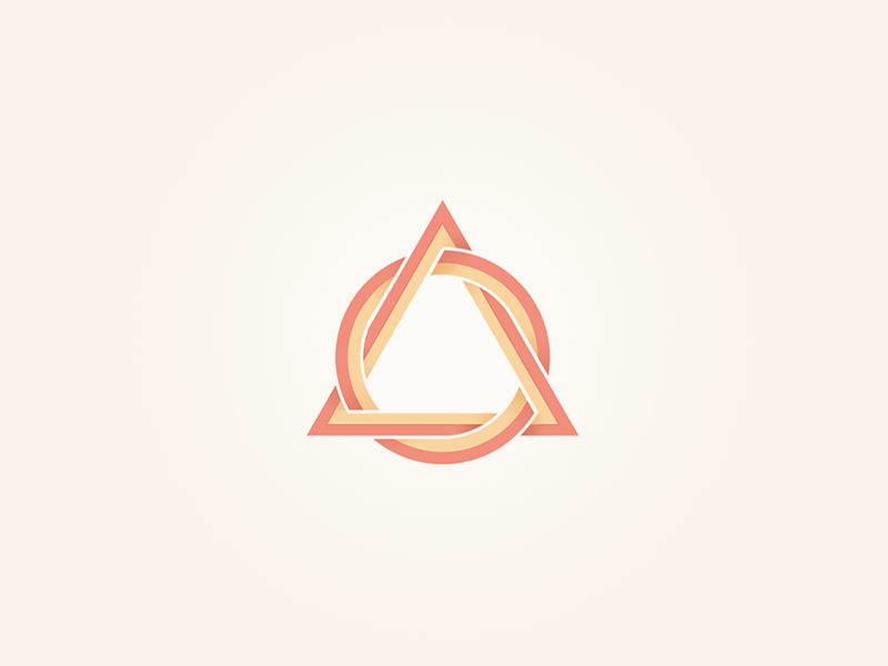 Triangular shape I triangular logo logotype exploration triangle circle
