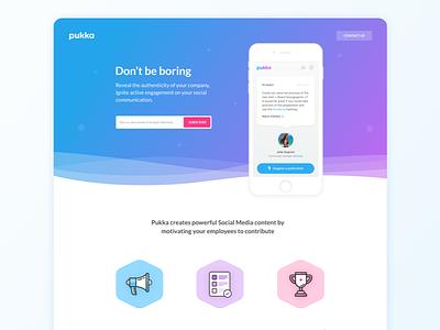Pukka Landing Page paris illustration icones contents kevincdnc social mobile landing page landing pukka