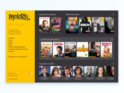 Molotov Web App paris kevincdnc movies dashboard application tv show tv webapp molotov.tv molotov