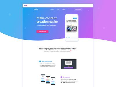 Pukka Website 🎈 pukka website landing page illustration content creation community gradient responsive kevin cdnc