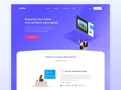 Pukka Admin Page pukka app kevin webdesign gradient admin layout website pukka