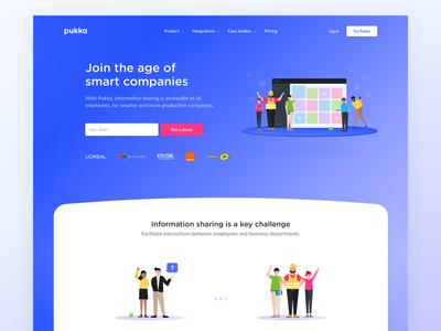 Pukka Home Page cdnc paris pukaapp homepage pukka app kevin webdesign gradient admin layout website pukka