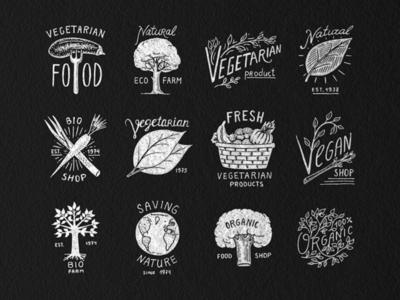 Vegan and Organic badges