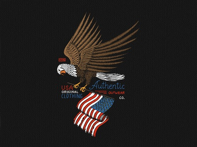 Bald eagle t-shirt print