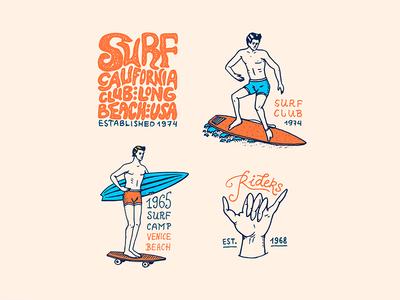 Surfing badges