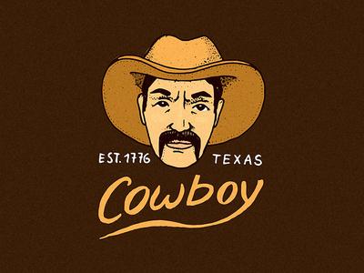 American cowboy badge / logo