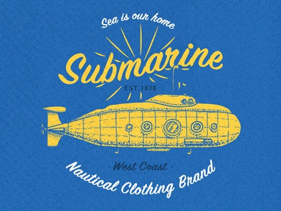 Yellow submarine / t-shirt print