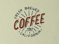 Coffee badge / California fresh brewed