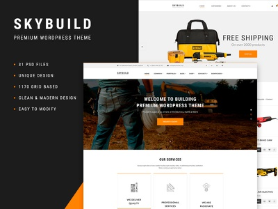 Skybuild - E-Commerce Wordpress Template website construction website e-commerce wordpress template