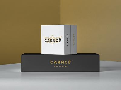 Carncé branding design bag shopping bag shopping luxury black gold mens fashion menswear fashion brand fashion carnce packaging logo design logo vector minimal illustration branding