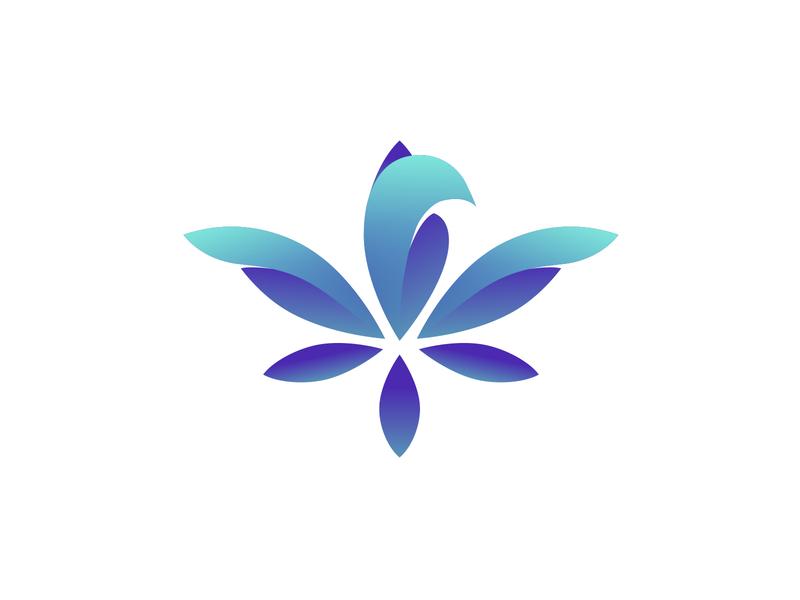 Alivio logo icon phoenix bird marijuana cannabis vector branding logo logo design illustration