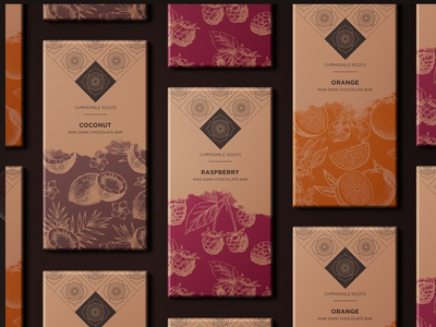 Chamomile Roots chocolate bar packaging