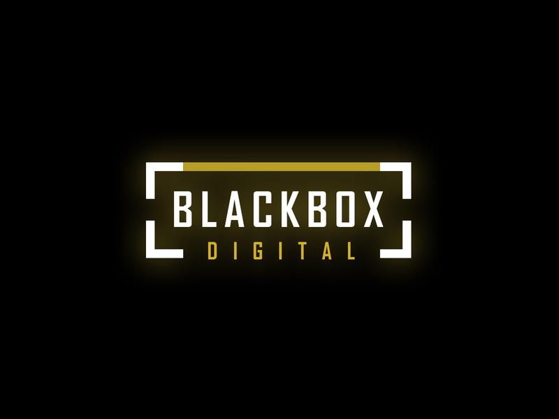 Blackbox Digital logo logo design branding digital box black minimal branding logo design logo