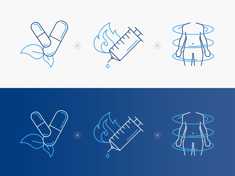 weight loss icons icons set health persona doctors weight loss icons vector minimal illustration
