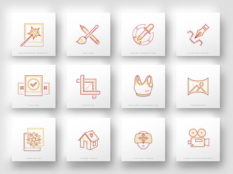 Picsera icon set retouching editing photography icon design iconography icon illustration