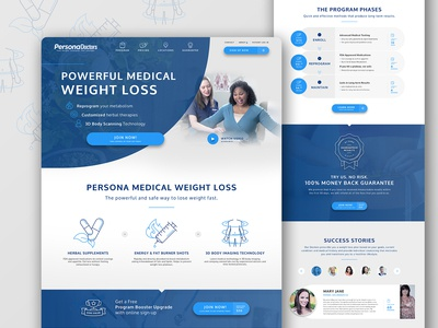 Persona Wellness Web redesign