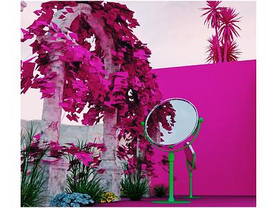 Impossible oasis visual design graphic design visualization visualización visual rendering 3dsmax render