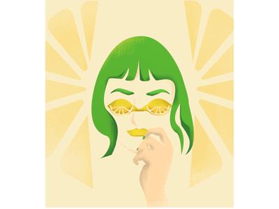 Lemon glasses