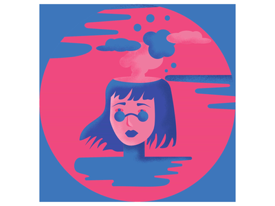 Mindless simple illustration mindless graphic digital colorful design illustration vector