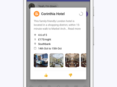 Hotel Polling modal over pop emoji polling hotel andriod