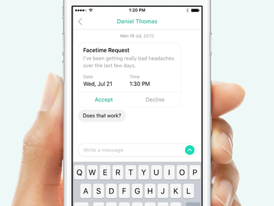 Facetime Request card request facetime green minimal chat simple ios