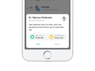 Appointment Modal appointment timeline icon doctor popover modal minimal simple ios
