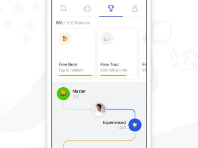 Rewards beer profile selina booking hotel hostel clean minimal rewards android