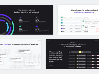 Unomaly Customer Deck visualisation data infographic simple presentation deck customer unomaly