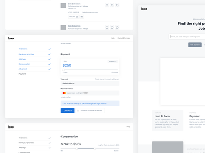Loxo Wireframes steps form clean minimal simple wireframes loxo
