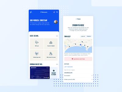 IF Reisevenn - App design ux ui travel modern mobile app mobile iphone ios insurance if design clean branding blue application app